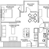 12 Plex Upper Floor Unit floor plan