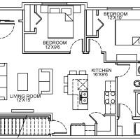 14 Plex Main Floor Corner Unit floor plan