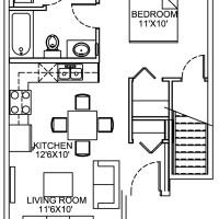 14 Plex Main Floor Studio 2 Unit floor plan