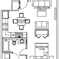 14 Plex Main Floor Studio 1 Unit floor plan