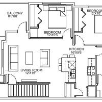 14 Plex Upper Floor Corner Unit floor plan