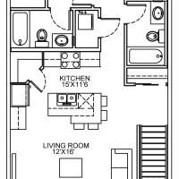 14 Plex Upper Floor Inside Unit floor plan